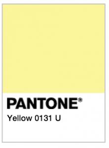 pantone yellow